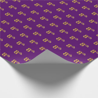 Purple, Faux Gold 8th (Eighth) Event Wrapping Paper