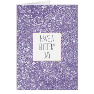 Purple Faux Sparkly Glitter Card