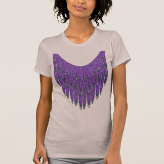 Purple Feather Fringe Fractal Art T-shirt