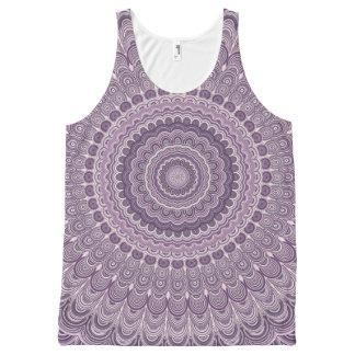 Purple feather mandala All-Over-Print tank top