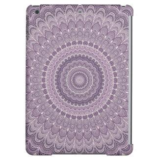 Purple feather mandala iPad air cover