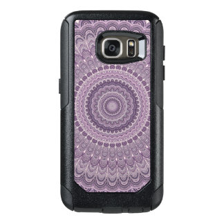 Purple feather mandala OtterBox samsung galaxy s7 case