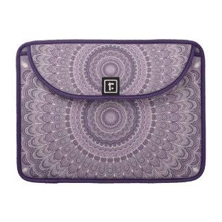 Purple feather mandala sleeve for MacBook pro
