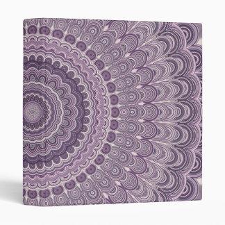 Purple feather mandala vinyl binders