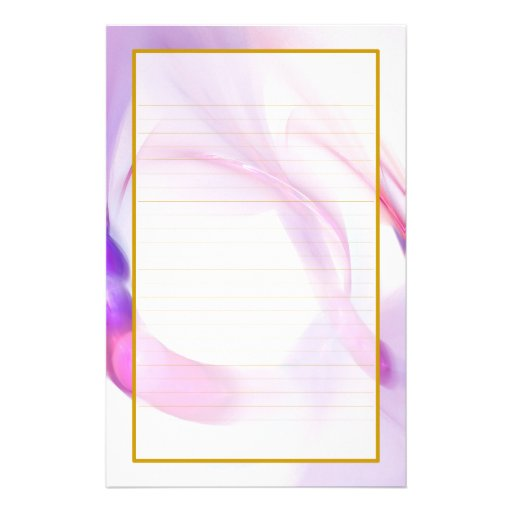 Purple Feather Rings Fine Lined Stationery