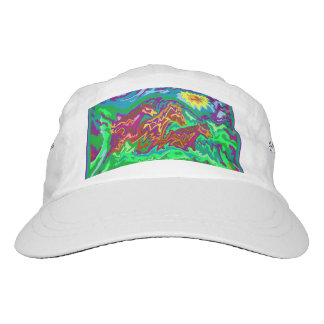 Purple Feathered Horses cap with text back sides