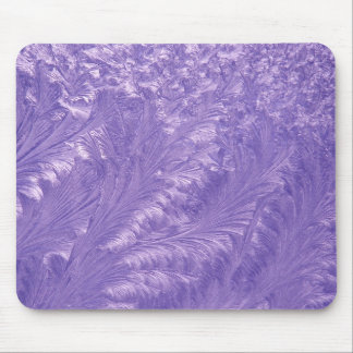 Purple Feathers Mouse Pad
