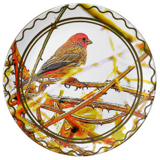 Purple Finch Plate