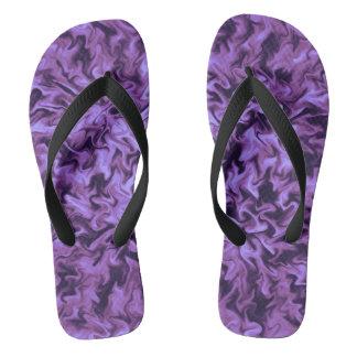 Purple Fire Flip Flops