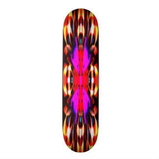 Purple fire spirit mandala skateboard deck