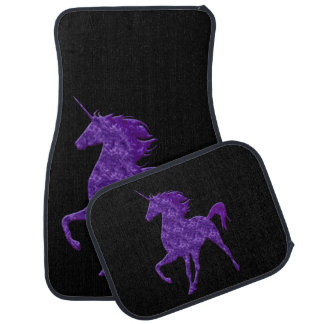 Purple Fire Unicorn Car Mats