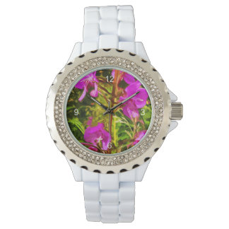 Purple Fireweed Alaska Wildflower Abstract Watch