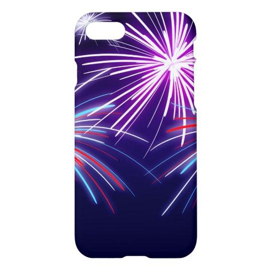 Purple Fireworks iphone case