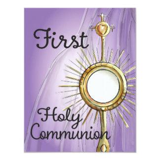Purple First Communion Announcement