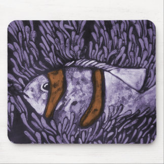 Purple Fish Mouse Pad