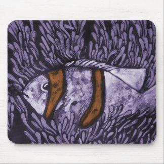 Purple Fish Mouse Pads