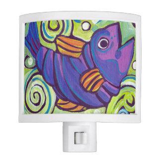 Purple Fish Night light
