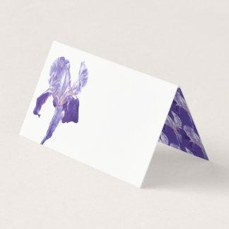 Purple flag iris watercolor guest place cards