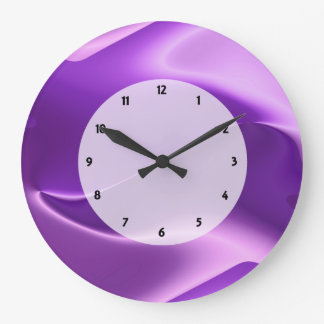 purple flame abstract large clock