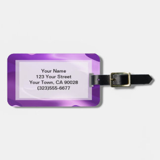 purple flame abstract luggage tag