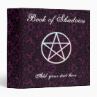 Purple fleur book of shadows 3 ring binder