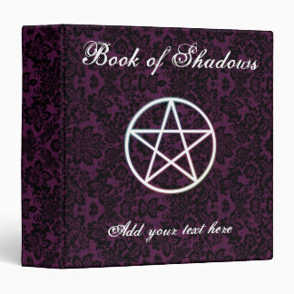 Purple fleur book of shadows vinyl binder