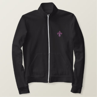 Purple Fleur de Lis Embroidered Shirt