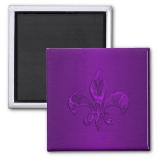 Purple Fleur de Lis Magnet