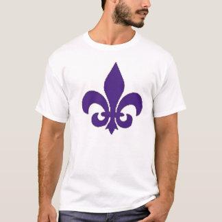 purple fleur de lis Men's Tshirt