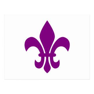 Purple Fleur de Lis Postcard
