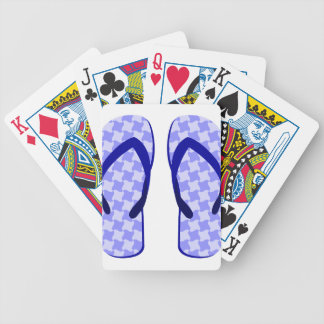 Purple Flip Flops Bicycle Playing Cards