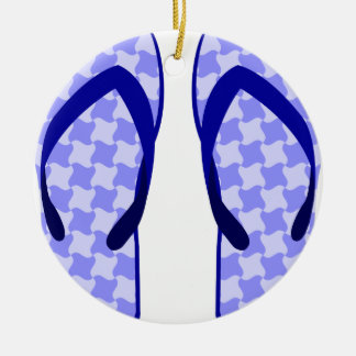 Purple Flip Flops Ceramic Ornament