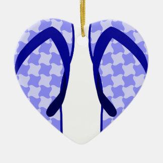 Purple Flip Flops Ceramic Ornament