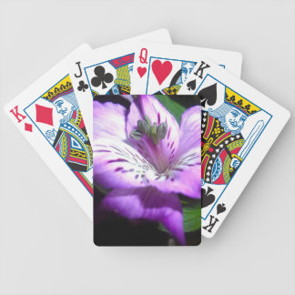 Purple Flora Bicycle Playing Cards