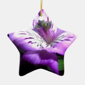 Purple Flora Ceramic Ornament