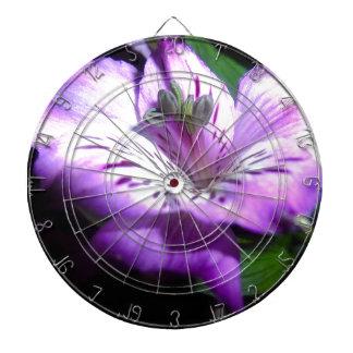 Purple Flora Dartboard