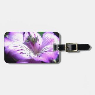 Purple Flora Luggage Tag