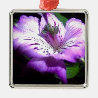 Purple Flora Metal Ornament