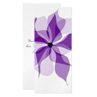 "Purple Floral 4"" X 9.25"" Invitation Card"