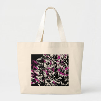 Purple floral abstraction large tote bag