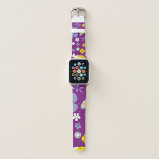 Purple Floral Apple Watch Band
