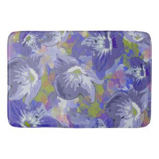 Purple Floral Bath Mat