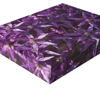 Purple Floral Bloom Wrapped Canvas
