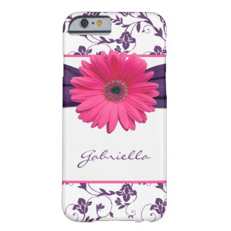 Purple Floral Damask Pink Gerber Daisy iPhone 6 ca Barely There iPhone 6 Case