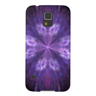 Purple Floral Fractal Galaxy S5 Case