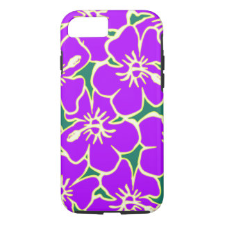 Purple Floral Hibiscus Hawaiian Flowers Phone Case