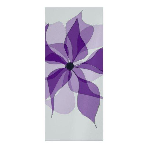 Purple Floral Invitations