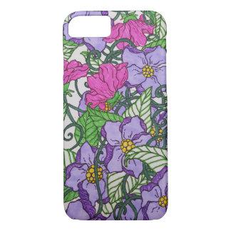 Purple floral iPhone 8/7 case