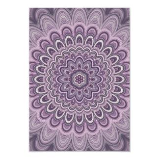 Purple floral mandala card
