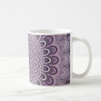 Purple floral mandala coffee mug